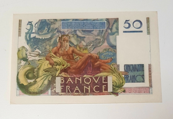 Annonce occasion, vente ou achat 'Billet 50F Leverrier type 1946'