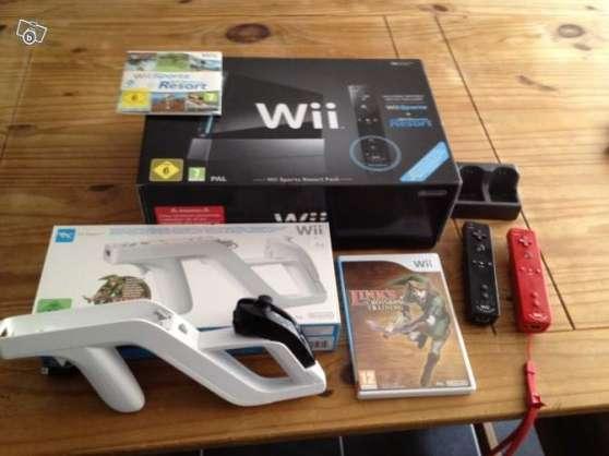 Wii Noire + Wii Zapper + seconde manette