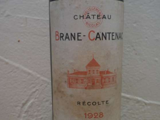 1 BOUTEILLE BRANE CANTENAC 1928 - Photo 3