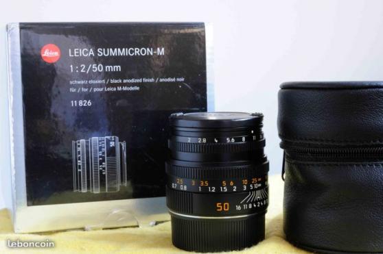 Petite Annonce : Leica m - summicron 50 mm - Cet objectif est en EXCELLENT ETAT. Il a été acheté en 2013 (facture