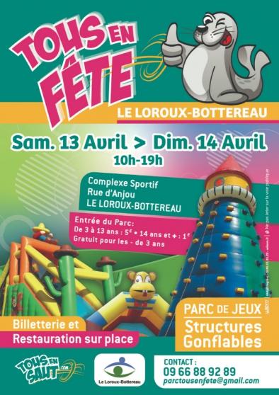 Petite Annonce : Tous en fête - Parc de jeux : TOUS EN FETE  Complexe Sportif Rue d\'Anjour 44430