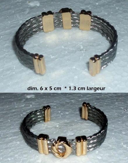 Annonce occasion, vente ou achat 'Bracelet F Acier tressé'