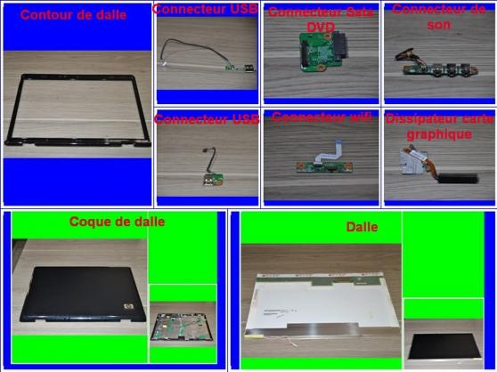 Pièces HP Pavilion DV9610em de 17,3 P - Photo 3