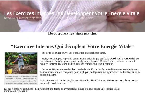 Annonce occasion, vente ou achat 'Pour Développer Votre Energie Vitale...'