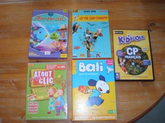 lot-de-5-jeux DVD-PC-MAC-pour-enfants :