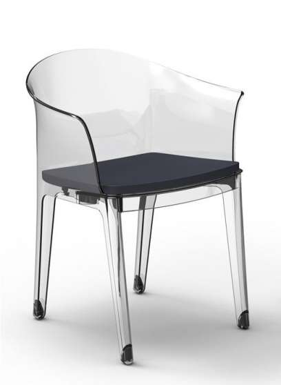 Chaise design polycarbonate transparent lyon meubles d coration chaises - Chaise design polycarbonate ...