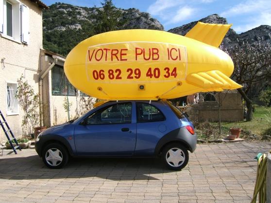ballon publicitaire gonflable voiture