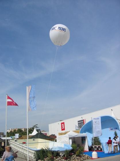 Ballon helium publicitaire