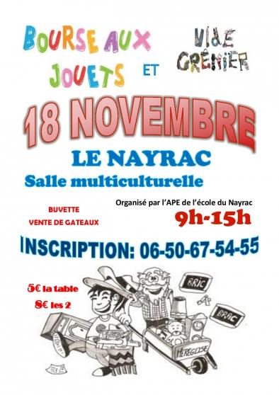 Annonce occasion, vente ou achat 'bourse aux jouets vide grenier 18.11.18'