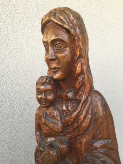 VIERGE à L\'ENFANT - SCULPTURE BOIS - Photo 3