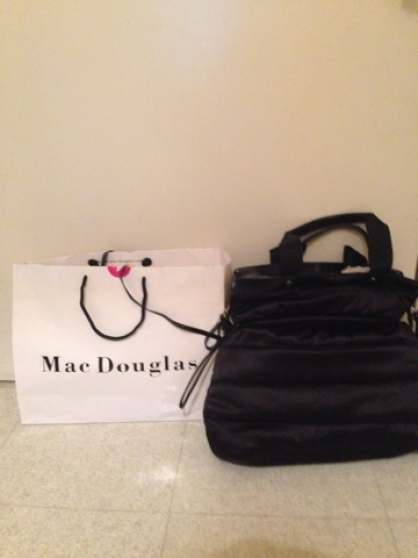 Sac Mac Douglas en tissu noir très chic