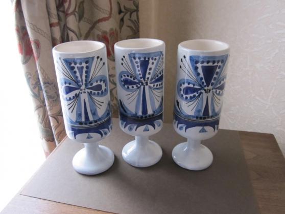 Drie verres céramique Roger Capron