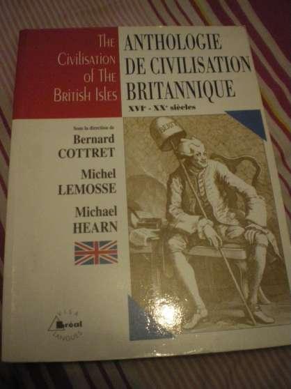 Annonce occasion, vente ou achat 'Anthologie de civilisation britannique'