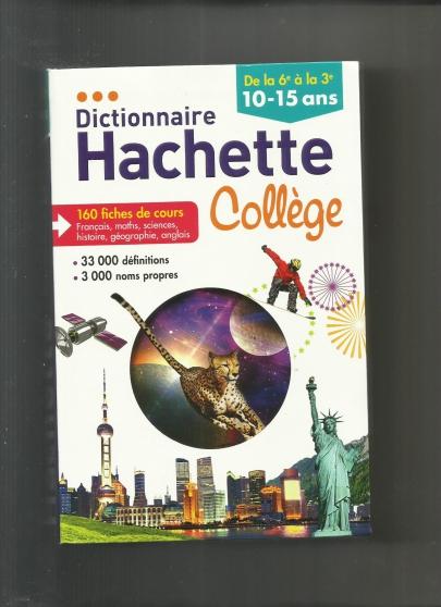 DICTIONNAIRE HACHETTE COLLEGE de la 6ème