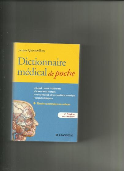 Annonce occasion, vente ou achat 'Dictionnaire médical de poche - MASSON'
