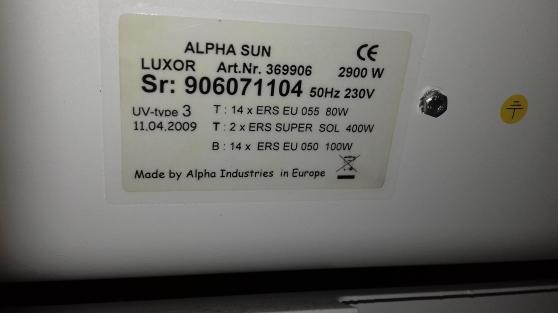 Solarium ALPHA Sun livraison possible - Photo 3