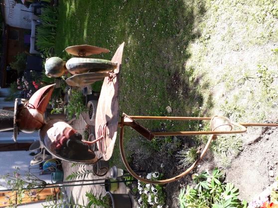 Scène champêtre 2 corbeaux s/balancier - Photo 2
