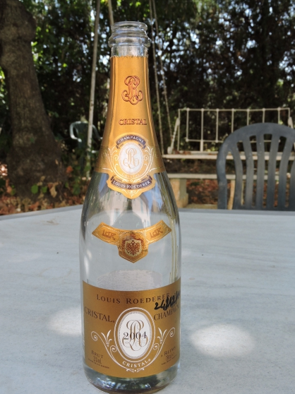 Annonce occasion, vente ou achat 'Etiquette Cristal Champagne Louis Roeder'