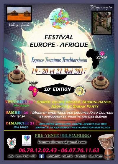 Annonce occasion, vente ou achat 'Festival Europe-Afrique 10ème édition'