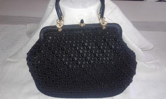 sac perlé noir