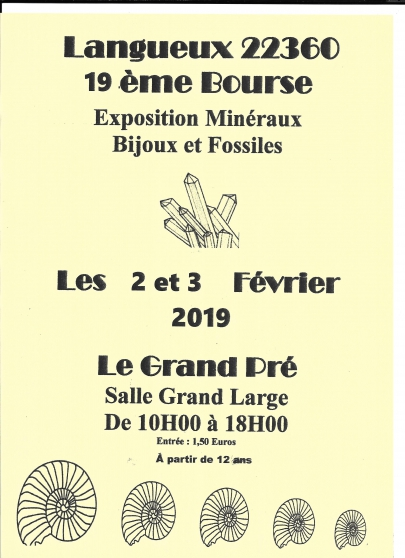19ème bourse aux  minéraux et fossiles - Annonce gratuite marche.fr