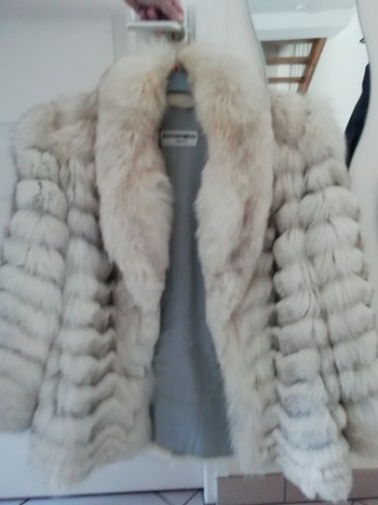 Manteau fourrure renard bleu 38/40
