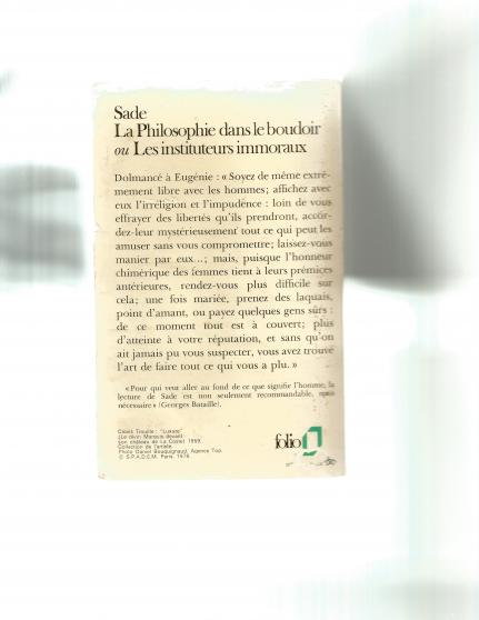 LA PHILOSOPHIE DANS LE BOUDOIR - Photo 2