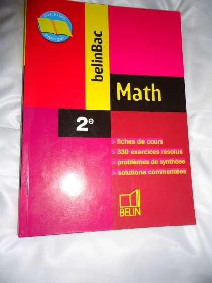 Annonce occasion, vente ou achat 'belinbac , math 2nd'