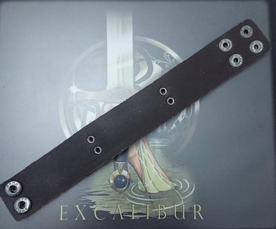 Bracelet Viking marron symbole Valknut. - Photo 4