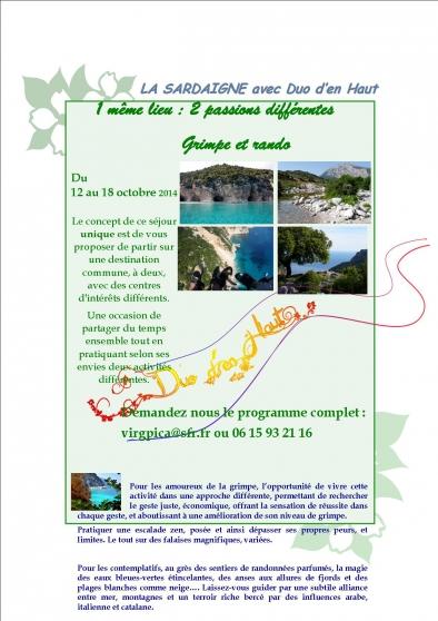 Annonce occasion, vente ou achat 'randonnée en Sardaigne'