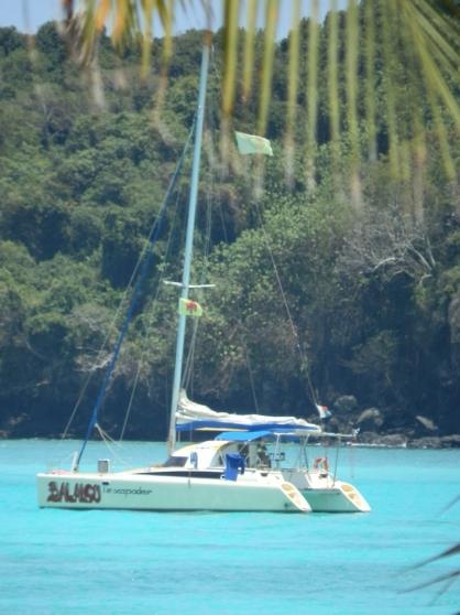 Joli catamaran Fountaine Pajot à Nosy Be