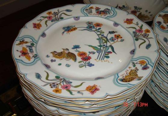"""Porcelaines """"service aux cailles""""HAVILAN"""