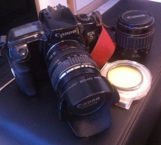 Canon EOS 5 plus 28-105 et 35-105