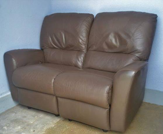 Canapé cuir marron 2 places
