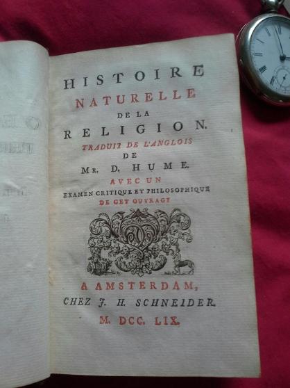 Histoire naturelle de la religion D.Hume