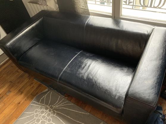 Canapé en cuir très bon état - Photo 2