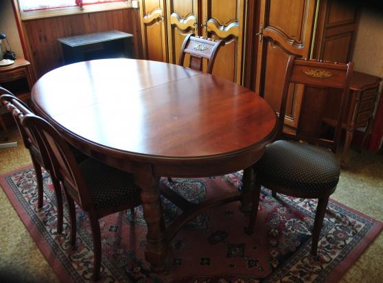 vends table et chaises