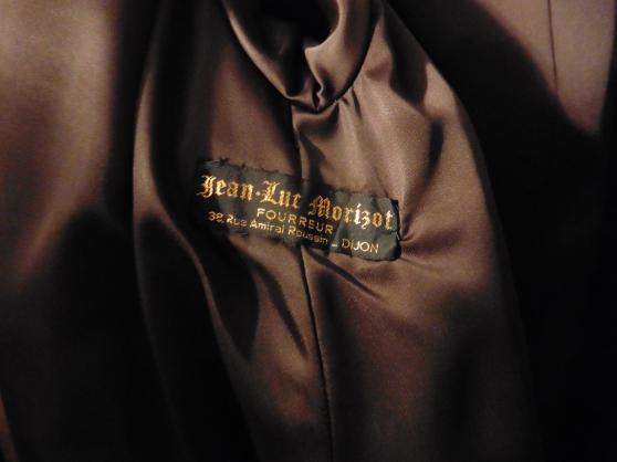 Manteau de fourrure flans de vison - Photo 2