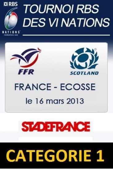 Annonce occasion, vente ou achat '5 Billets 16/03/13 France-Ecosse Scotlan'