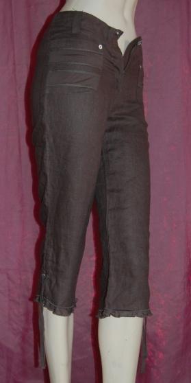 pantacourt femme taille 36 100 lin avignon v tements femme pantalons femme avignon. Black Bedroom Furniture Sets. Home Design Ideas