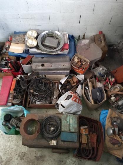 lot pièces véhicules anciens outillage