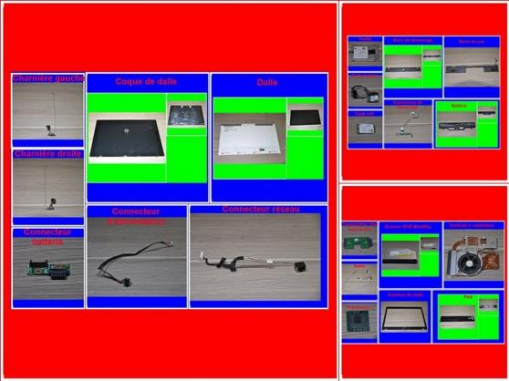 Pièces HP Probook 4710S de 17,3 pouces