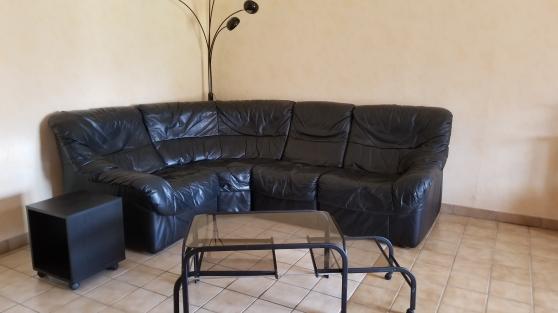 Annonce occasion, vente ou achat 'Canapé cuir noir angle modulable'