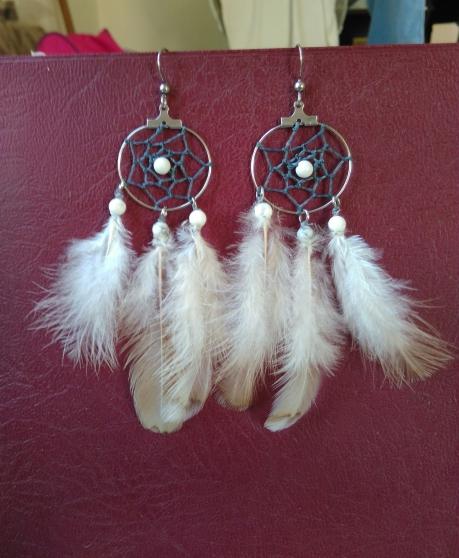 Annonce occasion, vente ou achat 'boucles d\'oreilles attrape rêves'