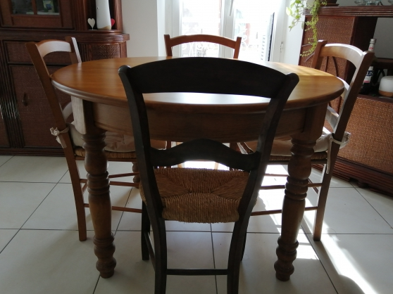 Table circulaire bois massif