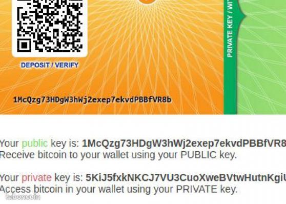 Annonce occasion, vente ou achat 'Cours pratique/théorique sur les cryptom'