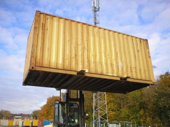 Container marin d 39 occasion 2001 mat riaux de for Construction container belgique