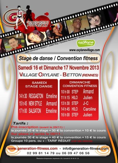 CONVENTION FITNESS : Dimanche 17.11. 2