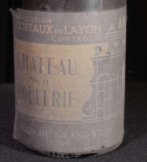 Vin blanc d'anjou de 1955