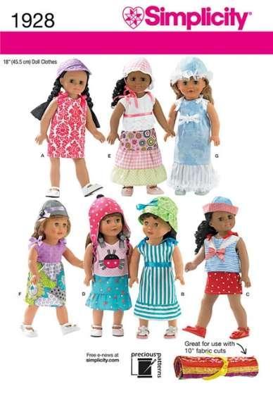 Patrons Simplicity pour poupées